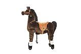 Animal Riding ARP002M Reitpferd Amadeus medium/Large (für Kinder ab 5 Jahren, Farbe braun, Sattelhöhe 67 cm, mit Rollen), M/L - 2
