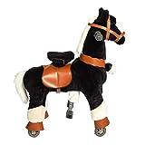 Galoppo Spielpferd mit Rollen Größe Small - schwarz
