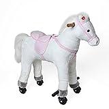 Pink Papaya Reitpferd Lola auf Rollen
