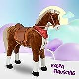 Pink Papaya Plüschpferd XXL 105cm - Max, riesiges Pferd zum Reiten, EIN tolles Stehpferd XXL, bis 100kg, Spiel-Pferd Reitpferd zum Draufsitzen inkl. Kleiner Bürste - EIN Kindertraum für Mädchen! - 3