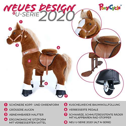 Ponycycle Amadeus - Modell 2020 - U Serie - Schaukelpferd - Kuscheltier auf Rollen - Inline - Kinder - Pony - Pferd - Reiten - Plüschtier - MyPony (Medium) - 2