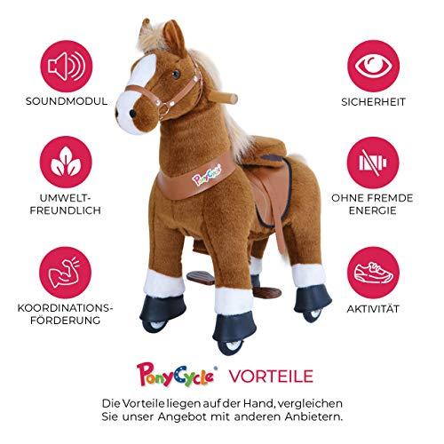 Ponycycle Amadeus - Modell 2020 - U Serie - Schaukelpferd - Kuscheltier auf Rollen - Inline - Kinder - Pony - Pferd - Reiten - Plüschtier - MyPony (Medium) - 3