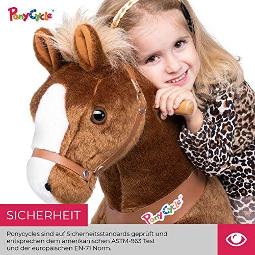 Ponycycle Amadeus - Modell 2020 - U Serie - Schaukelpferd - Kuscheltier auf Rollen - Inline - Kinder - Pony - Pferd - Reiten - Plüschtier - MyPony (Medium) - 4