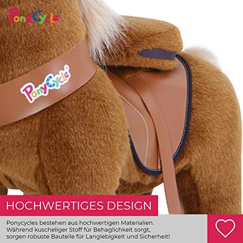 Ponycycle Amadeus - Modell 2020 - U Serie - Schaukelpferd - Kuscheltier auf Rollen - Inline - Kinder - Pony - Pferd - Reiten - Plüschtier - MyPony (Medium) - 5