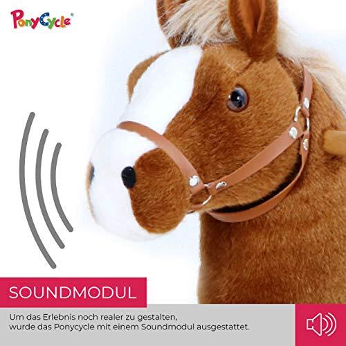 Ponycycle Amadeus - Modell 2020 - U Serie - Schaukelpferd - Kuscheltier auf Rollen - Inline - Kinder - Pony - Pferd - Reiten - Plüschtier - MyPony (Medium) - 6