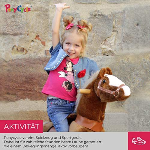 Ponycycle Amadeus - Modell 2020 - U Serie - Schaukelpferd - Kuscheltier auf Rollen - Inline - Kinder - Pony - Pferd - Reiten - Plüschtier - MyPony (Medium) - 7