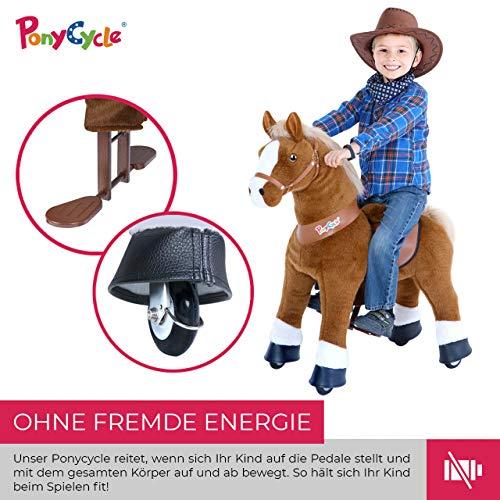 Ponycycle Amadeus - Modell 2020 - U Serie - Schaukelpferd - Kuscheltier auf Rollen - Inline - Kinder - Pony - Pferd - Reiten - Plüschtier - MyPony (Medium) - 8