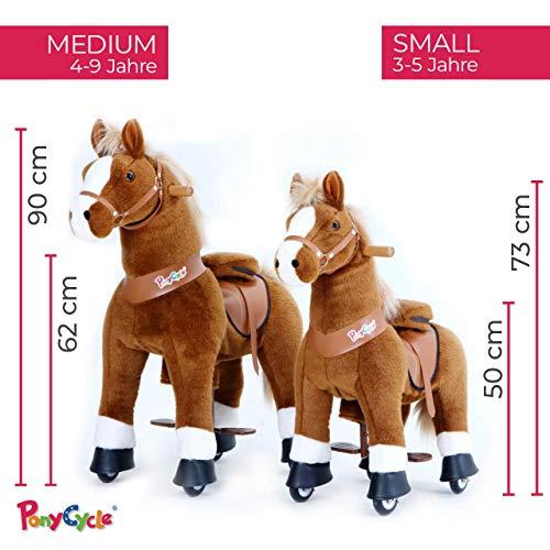 Ponycycle Amadeus - Modell 2020 - U Serie - Schaukelpferd - Kuscheltier auf Rollen - Inline - Kinder - Pony - Pferd - Reiten - Plüschtier - MyPony (Medium) - 9
