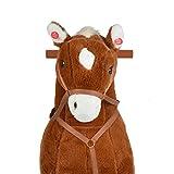 Pink Papaya XXL Reitpferd auf Rollen Amigo, ~ 90 cm Spielpferd, fahrendes Schaukelpferd, Spielzeug Plüsch Pferdzum Drauf sitzen mit Sounds - 3