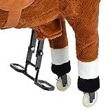 Pink Papaya XXL Reitpferd auf Rollen Amigo, ~ 90 cm Spielpferd, fahrendes Schaukelpferd, Spielzeug Plüsch Pferdzum Drauf sitzen mit Sounds - 4