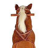 Pink Papaya XXL Reitpferd auf Rollen Amigo, ~ 90 cm Spielpferd, fahrendes Schaukelpferd, Spielzeug Plüsch Pferdzum Drauf sitzen mit Sounds - 5