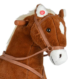 Pink Papaya XXL Reitpferd auf Rollen Amigo, ~ 90 cm Spielpferd, fahrendes Schaukelpferd, Spielzeug Plüsch Pferdzum Drauf sitzen mit Sounds - 6