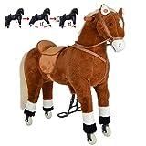 Pink Papaya XXL Reitpferd auf Rollen Amigo, ~ 90 cm Spielpferd, fahrendes Schaukelpferd, Spielzeug Plüsch Pferdzum Drauf sitzen mit Sounds - 7
