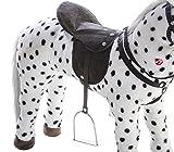 Heunec 723771 - schwarz-weiß gepunktetes Pferd stehend mit Sound 100 KG Tragkraft - 3