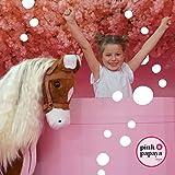 XXL Plüschpferd 105cm - Elsa, das riesige Reitpferd für Kinder, ein tolles Stehpferd Spiel-pferde XXL Pferd zum Draufsitzen inkl. kleiner Bürste, 100kg Tragkraft - ein Kindertraum für Mädchen! Farbe: braun/blonde Mähne - 5