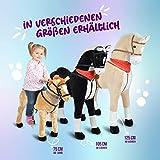 XXL Plüschpferd 105cm - Elsa, das riesige Reitpferd für Kinder, ein tolles Stehpferd Spiel-pferde XXL Pferd zum Draufsitzen inkl. kleiner Bürste, 100kg Tragkraft - ein Kindertraum für Mädchen! Farbe: braun/blonde Mähne - 6