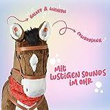 Pink Papaya Giant Riesen XXL Kinderpferd, Herkules, 125 cm Plüsch-Pferd zum reiten, fast lebensgroßes Spielzeug Pferd zum drauf sitzen, bis 100kg belastbar, mit verschiedenen Sounds, inkl. kleiner Bürste - 2