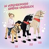 Pink Papaya Giant Riesen XXL Kinderpferd, Herkules, 125 cm Plüsch-Pferd zum reiten, fast lebensgroßes Spielzeug Pferd zum drauf sitzen, bis 100kg belastbar, mit verschiedenen Sounds, inkl. kleiner Bürste - 6