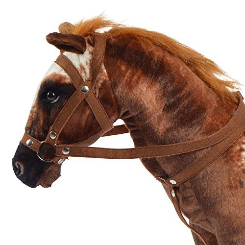 Pink Papaya Plüschpferd XXL 70 cm - Stehpferd Johnny - großes Appaloosa Spielpferd zum Drauf sitzen bis 100 kg belastbar mit Sound, Spielzeug Cowboy Pferd zum Träumen Toys - 5