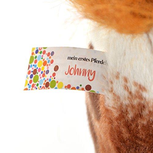 Pink Papaya Plüschpferd XXL 70 cm - Stehpferd Johnny - großes Appaloosa Spielpferd zum Drauf sitzen bis 100 kg belastbar mit Sound, Spielzeug Cowboy Pferd zum Träumen Toys - 6