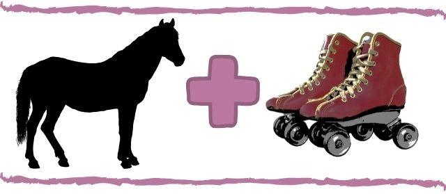 Pferd mit Rollen